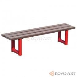 Kovová lavička Strada - plastová prkna
