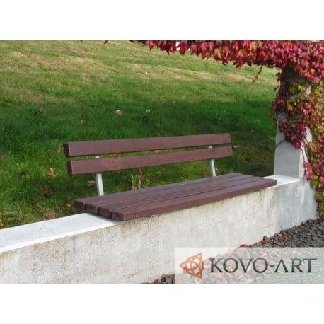 Kovová lavička Fany s plastem