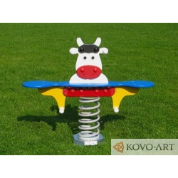 Pružinové dvojhoupadlo kravička - bílá Zdarma Doprava