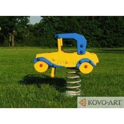 Pružinové houpadlo auto - modrá Zdarma Doprava
