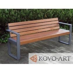 Kovová lavička Leona - masivní lavička