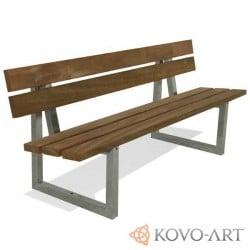 Kovová lavička Porta