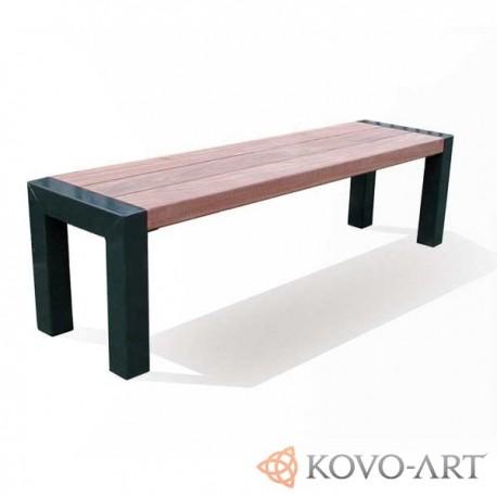 Masivní lavička Lomelo - kovové lavičky