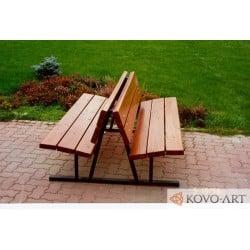Model lavičky Niky - venkovní lavičky
