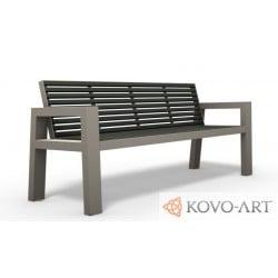 Ocelová lavička Beko