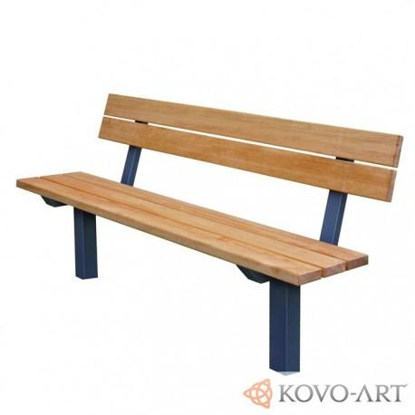 Kovové lavičky Karin