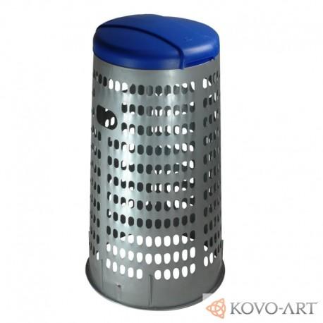 Plastový stojan na pytle - modré víko