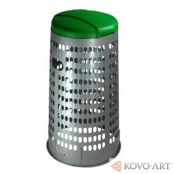 Plastový stojan na pytle - zelené víko