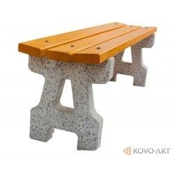 Betonová lavička Klasik bez opěradla