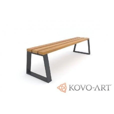 Kovová lavička Sant