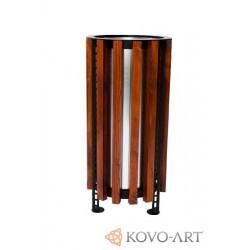Odpadkový koš kulatý dřevěný Paloma