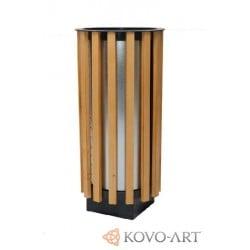 Odpadkové koše kulaté dřevěné One