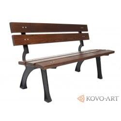 Litinová lavička Bora