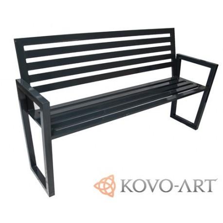 Ocelová lavička Seo