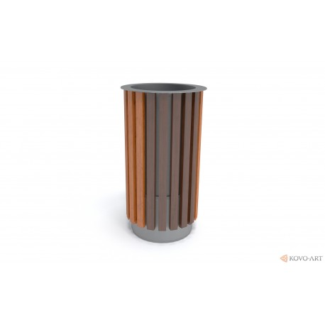 Odpadkový koš dřevěný kulatý Isa