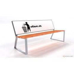 Reklamní lavička Santana