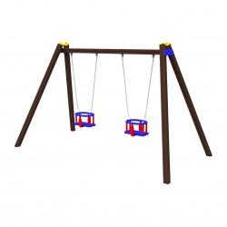 Řetězová dětská dvouhoupačka