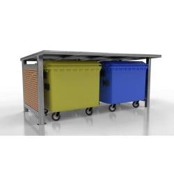 Přístřešek pro odpadové kontejnery Wood