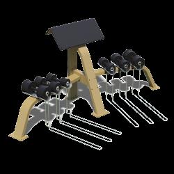 Scottova lavice s jednoručkami