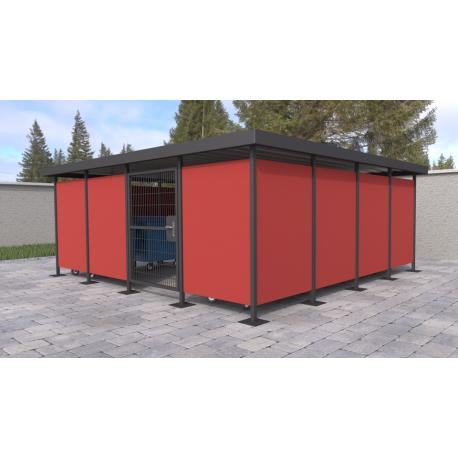 Přístřešek pro odpadové kontejnery Metal
