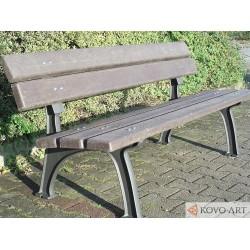 Litinová lavička Park s plastem