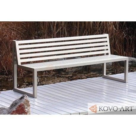 Kovová lavička Sinus - celokovová
