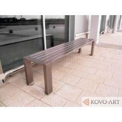 Kovová lavička Strada - celokovová